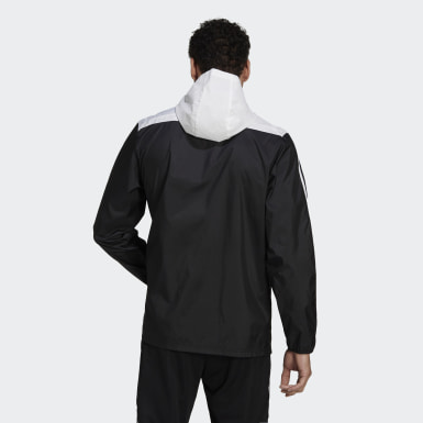 Men's Soccer Black Tiro Windbreaker