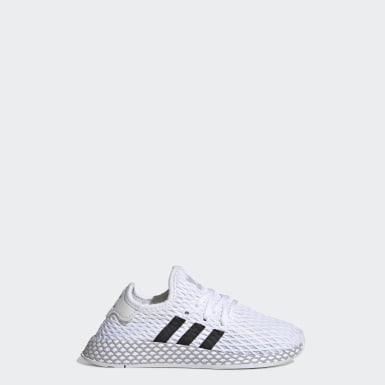 Kinder Originals Deerupt Runner Schuh Weiß