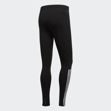 Muži Běh černá Legíny Running 3-Stripes