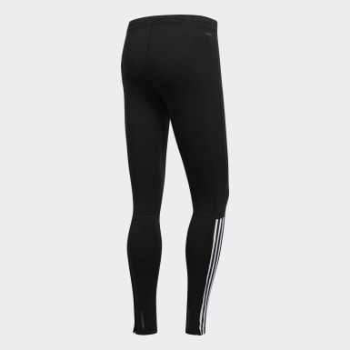 Men Running Black Running 3-Stripes Tights