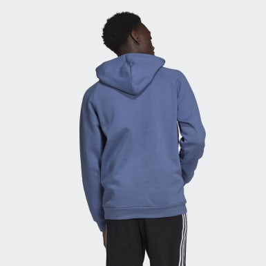 Men Originals Blue LOUNGEWEAR Adicolor 3D Trefoil Graphic Hoodie