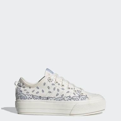 Frauen Originals Nizza RF Platform Schuh Weiß