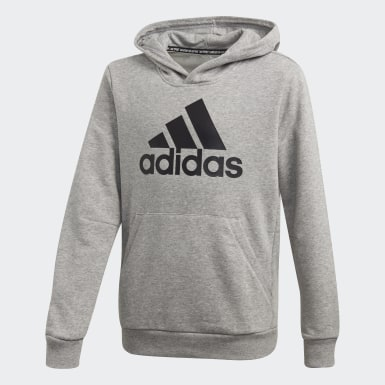 Sudadera Must Haves Badge of Sport Gris Niño Essentials