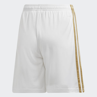 Youth 8-16 Years Football White Real Madrid Home Shorts