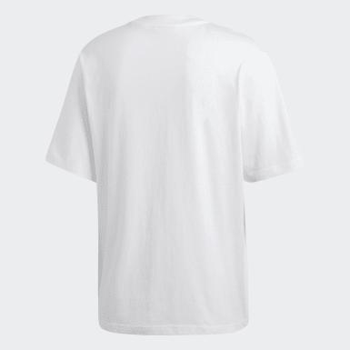 ผู้ชาย Originals สีขาว เสื้อยืด Oversize Trefoil