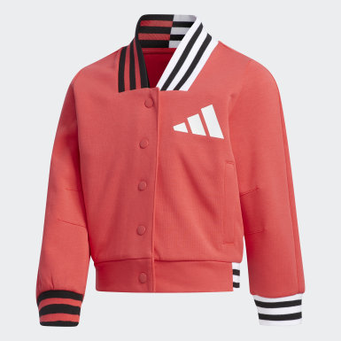Girls Athletics Pink Baseball Jacket