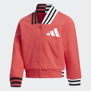 Børn Athletics Pink Baseball jakke