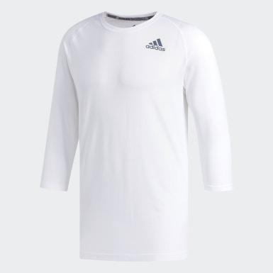 Men's Baseball White Fielder's Choice Base Layer Tee