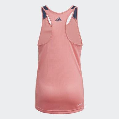 Dívky Athletics růžová Tílko adidas Designed To Move Leopard
