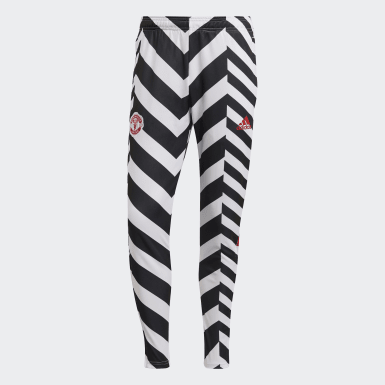 Men Football White Manchester United Graphic Track Pants