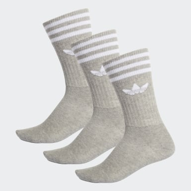 Originals Grey Crew Socks 3 Pairs