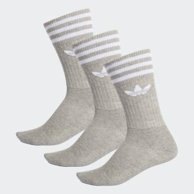 Originals šedá Ponožky Crew – 3páry