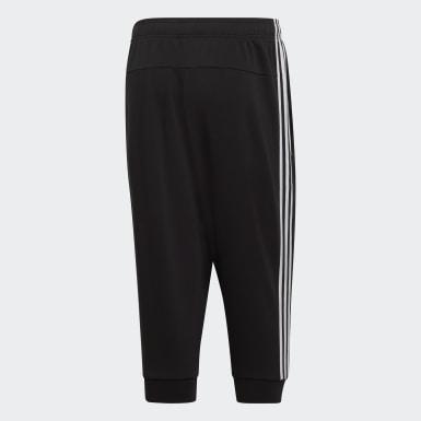 Men Training Black Essentials 3-Stripes 3/4 Pants