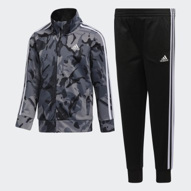 Children Training Black Classic Camo Jacket and Joggers Set