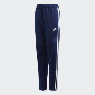 Děti Trénink modrá Kalhoty Tiro 19 Polyester