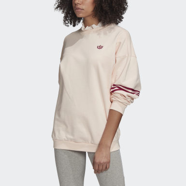 Sweat-shirt Ruffle Crew Rose Femmes Originals
