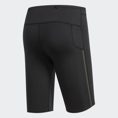 Men Running Black Supernova Tights