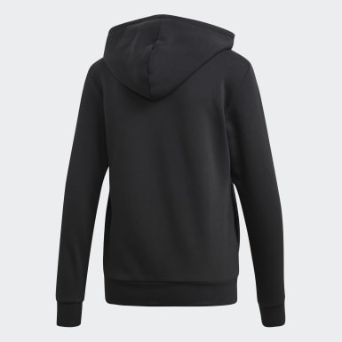 Women Lifestyle Black Essentials Linear Pullover Hoodie