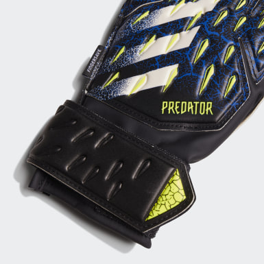 Gants de gardien de but Predator Match Fingersave Noir Enfants Football