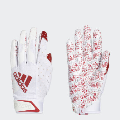 Football White Adizero 9.0 New Reign Receiver Gloves
