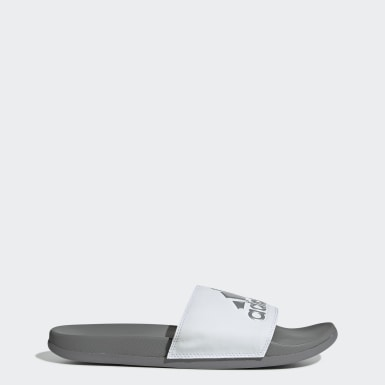 Men's Essentials White Adilette Comfort Slides