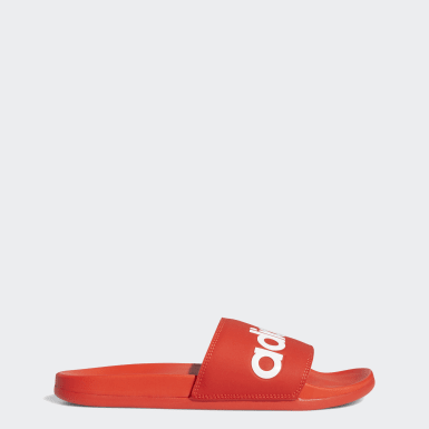 Men's Swim Red Adilette Comfort Slides