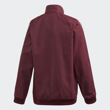Kids Football Burgundy Manchester United Anthem Jacket