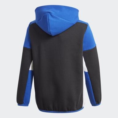 Boys Træning Sort Z.N.E. Full-Zip hættetrøje