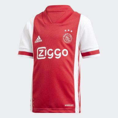 Divisa Mini Home Ajax Amsterdam Bianco Bambini Calcio