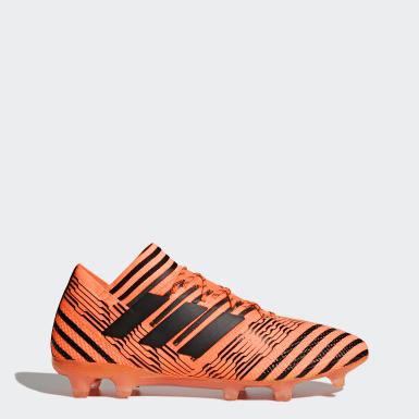 Calzado de fútbol Nemeziz 17.1 césped natural seco Naranja Hombre Fútbol