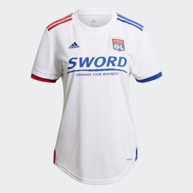 Γυναίκες Ποδόσφαιρο Λευκό Olympique Lyonnais 20/21 Home Jersey