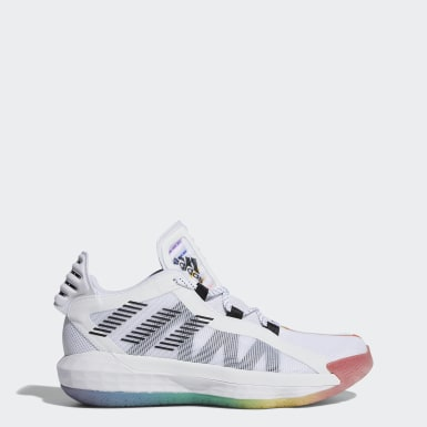 Men Basketball White Dame 6 Pride Shoes