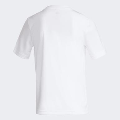 Camisa Flamengo adidas 70 anos Infantil Branco Meninos Futebol
