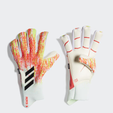 Football White Predator 20 Pro Fingersave Goalkeeper Gloves