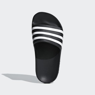 Kids Swimming Black Adilette Aqua Slides