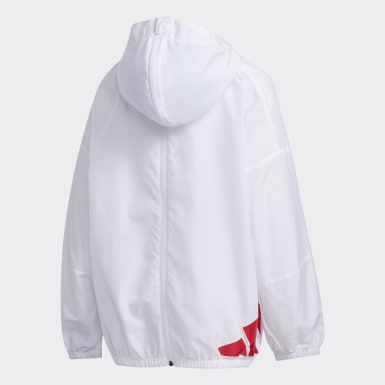 Kids Lifestyle White Lightweight Jacket