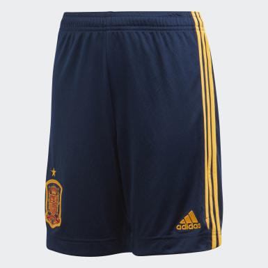 Short Home Spain Blu Ragazzo Calcio