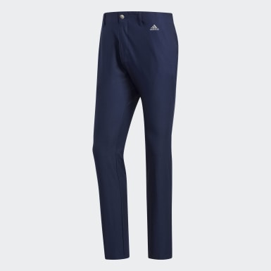 Men Golf Blue Ultimate365 3-Stripes Tapered Trousers