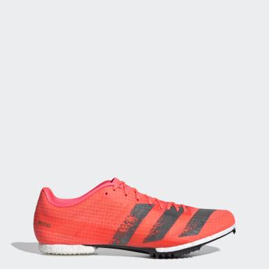 Sapatos de Bicos Meio-Fundo Adizero Rosa Atletismo