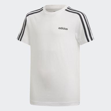 T-shirt 3-Stripes Essentials Branco Rapazes Athletics