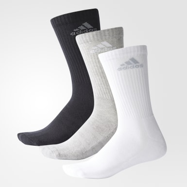 Meias de Cano Médio 3-Stripes Performance – 3 pares
