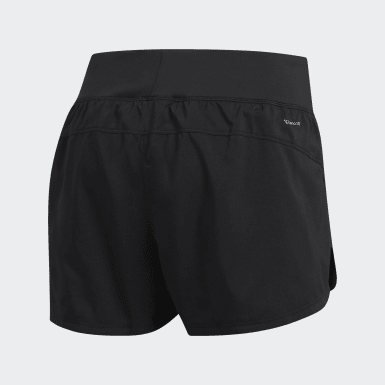Women Training Black Two-in-One Woven Shorts