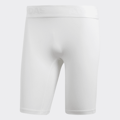 Men HIIT White Alphaskin Sport Short Tights