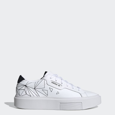 Dames Originals Wit adidas Sleek Super Schoenen