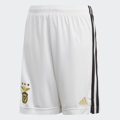 Kids Football White Benfica Home Shorts