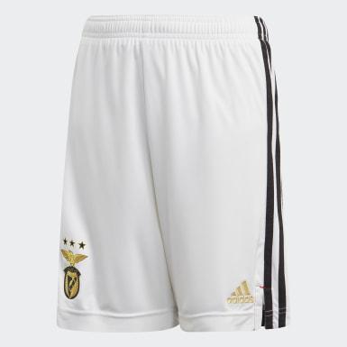 Pantalón corto primera equipación Benfica Blanco Niño Fútbol