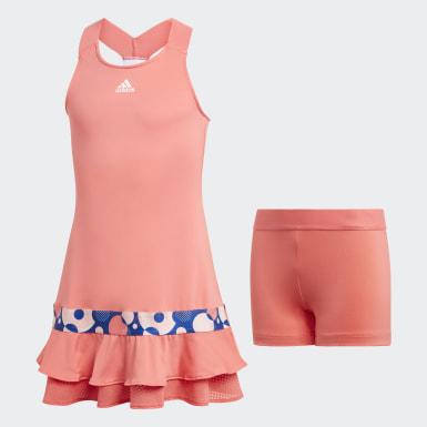 Mädchen Tennis Frill Kleid Rot