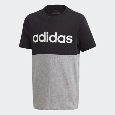 Boys Athletics Black Linear Colorblock Tee