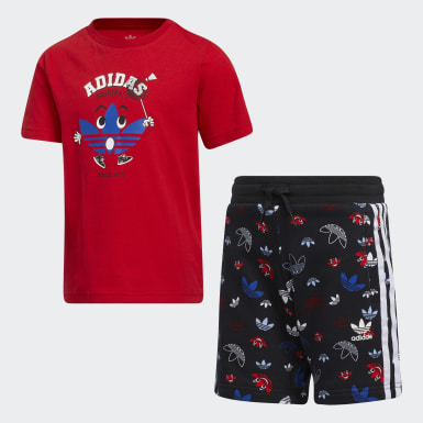 Boys Originals Red Short Tee Set
