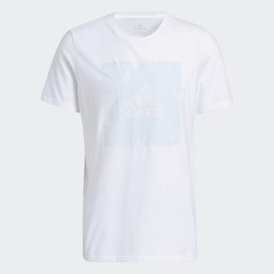 Men's Athletics White Tie-Dye Bleach Tee